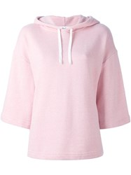 Ymc Wide Sleeve Hoodie Pink And Purple