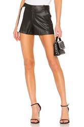 David Lerner Front Stripe Short Black