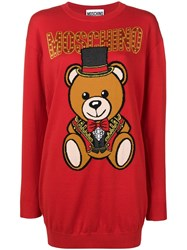 Moschino Teddy Circus Sweater Red