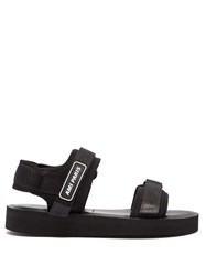 Ami Logo Neoprene And Canvas Sandals Black