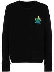 The Elder Statesman Intarsia Knit Leaf Jumper 60