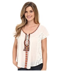 Roper 0353 Cotton Gauze Peasant Blouse White Women's Blouse