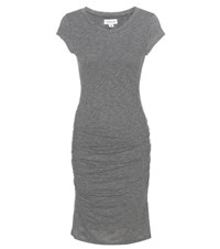 Velvet Ciroc Ruched Jersey Dress Grey