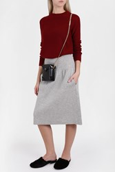 Joseph Women S Compact Boiled Knit Skirt Boutique1 Grey