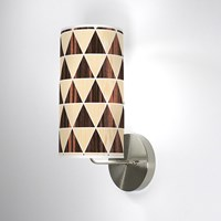 Jefdesigns Triangle 2 Wall Sconce Jd_Triangle2_Oak Ebony_Soma White Oak And Ebony Brown