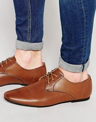 New Look Lace Up Shoes In Tan Tan