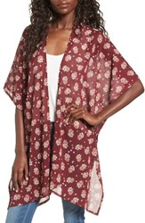 David And Young Women's Floral Print Ruana