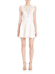 Bcbgmaxazria Aynn Cutout Fit And Flare Dress Off White