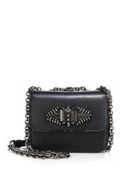 Christian Louboutin Sweet Charity Baby Spiked Leather Crossbody Bag Black