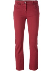 Brunello Cucinelli Slim Fit Cropped Jeans Red