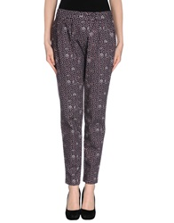 E Go' Sonia De Nisco Casual Pants Deep Purple