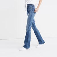 Madewell Rivet And Thread Skinny Flare Jeans Helen Wash