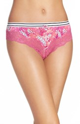 Honeydew Intimates Women's Lace Thong Berry Swirl Tropical
