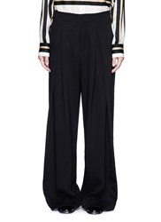 Ms Min Wide Leg Crepe Pants Black