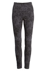 Lysse High Waist Denim Leggings Black Leopard