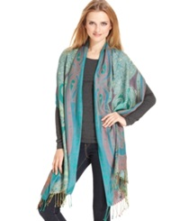 Collection Xiix Paisley Wrap Scarf Black Grey