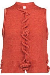 3.1 Phillip Lim Knotted Wool Blend Tank Orange