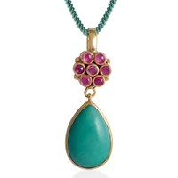 Emma Chapman Jewels Bellina Tourmaline Pendant Green