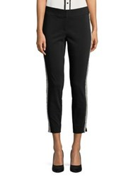 Ivanka Trump Cropped Stretch Fit Trousers Black Ivory