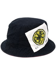 Kent And Curwen Logo Patch Bucket Hat Blue