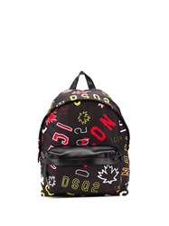 Dsquared2 Icon Print Backpack 60