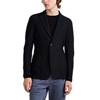 Giorgio Armani Honeycomb Mesh Two Button Sportcoat Navy