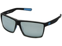 Costa Rincon Matte Smoke Crystal Fade Frame Gray Silver Mirror 580G Athletic Performance Sport Sunglasses Blue