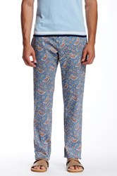 Parke And Ronen Paisley Print Trouser Blue
