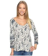 Lucky Brand Paisley Swing Top Multi Women's Clothing