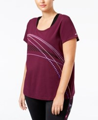 Ideology Plus Size Graphic T Shirt Only At Macy's Sweet Fig