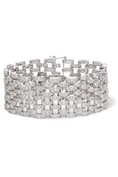 Kenneth Jay Lane Rhodium Plated Cubic Zirconia Bracelet Silver