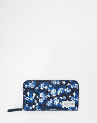 Jack Wills Zip Around Purse In Navy Ditsy Floral Print Navyditsy