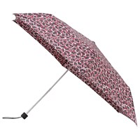 John Lewis Super Slim Telescopic Umbrella Burgundy Leopard