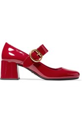 Prada Patent Leather Mary Jane Pumps Red