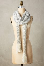 Anthropologie Tinselknit Scarf White