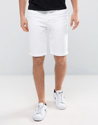 New Look Slim Fit Denim Shorts In White