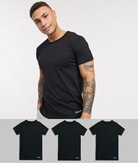 Lyle And Scott 3 Pack Lounge T Shirts In Black
