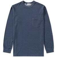Nanamica Long Sleeve French Terry Pocket Tee Blue