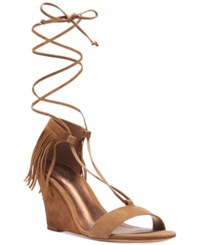 Carlos By Carlos Santana Sandy Lace Up Fringe Sandals Women's Shoes Moss
