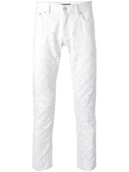 Versus Floating Lion Head Jeans White