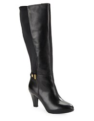 Anne Klein Delray Leather Knee High Boots Black