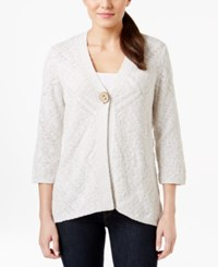 Jm Collection Three Quarter Sleeve One Button Cardigan Only At Macy's