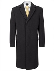 Skopes Kleber Long Cashmere Overcoat Charcoal
