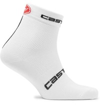 Castelli Free 9 Antibacterial Cycling Socks White