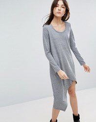 Nytt Asymmetrical Long Sleeve Dress Gray