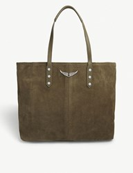 Zadig And Voltaire Mick Suede Tote Bag Taupe