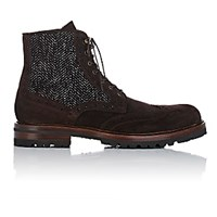 Barneys New York Men's Wingtip Boots Brown