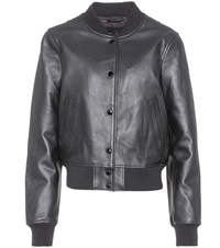 Rag And Bone Leather Varsity Jacket Black