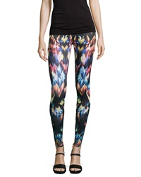 Romeo And Juliet Couture Geo Print Scuba Leggings Multi