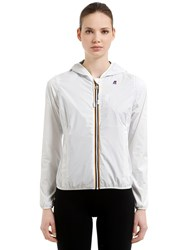 K Way Lily Hooded Jersey Jacket White